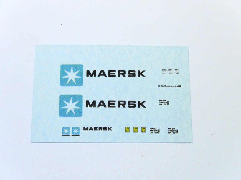 Decals til Maersk container